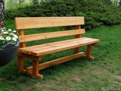 Садовая скамейка своими рук