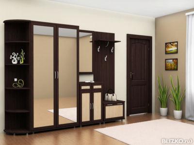 Набор мебели для прихожей с зеркальными дверями на заказ от .