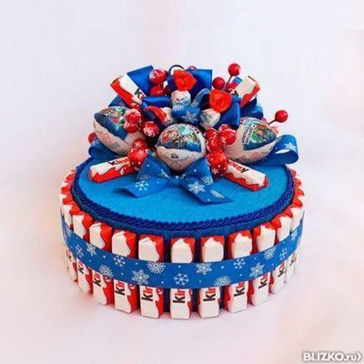 Торт для мальчика из киндеров своими руками пошаговое