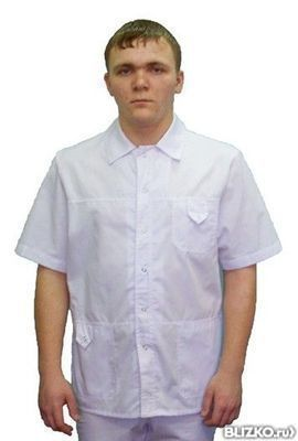 4d323844036 Рубашка медицинская мужская Натали 203 от компании Медицинская Мода ...